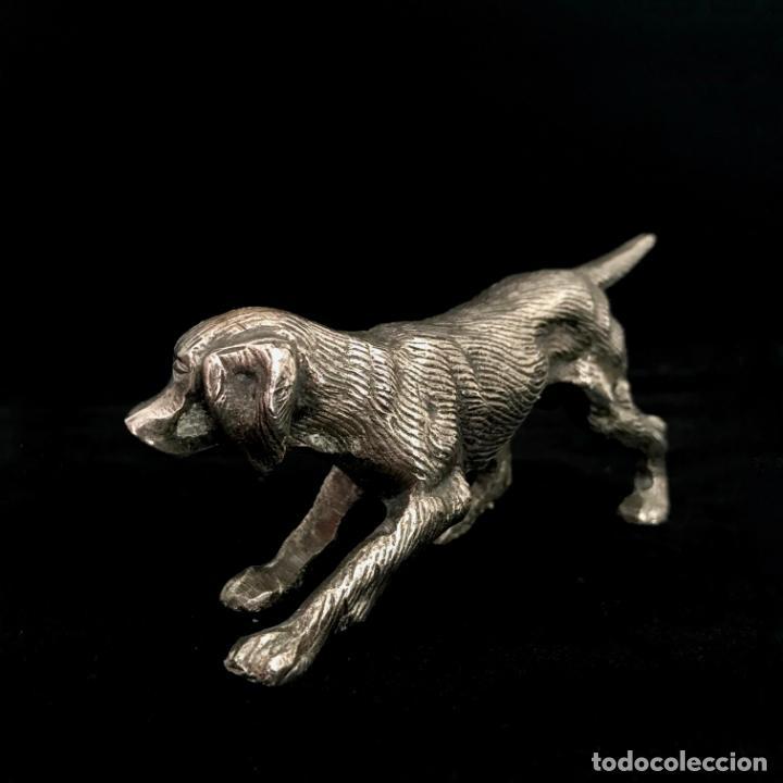 Vintage: Perro em metal plateado - Foto 2 - 251744400