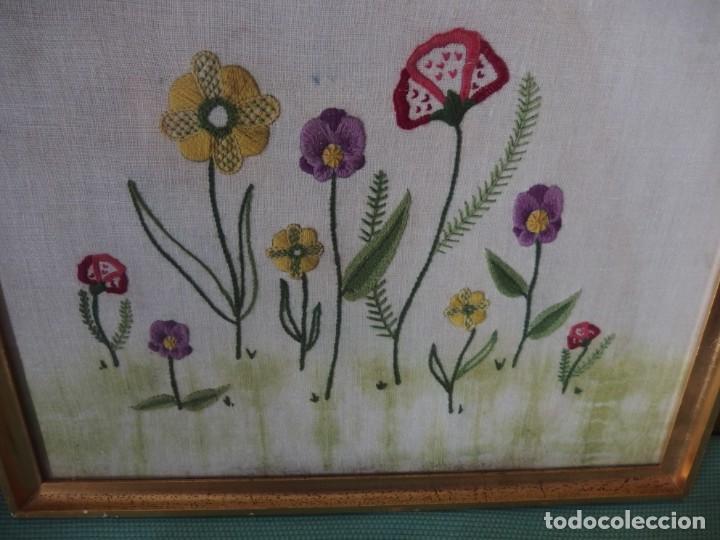 Vintage: 3 CUADROS BORDADOS A MANO - Foto 2 - 252689145