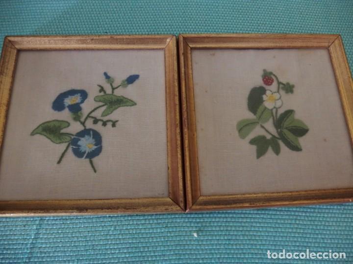 Vintage: 3 CUADROS BORDADOS A MANO - Foto 3 - 252689145