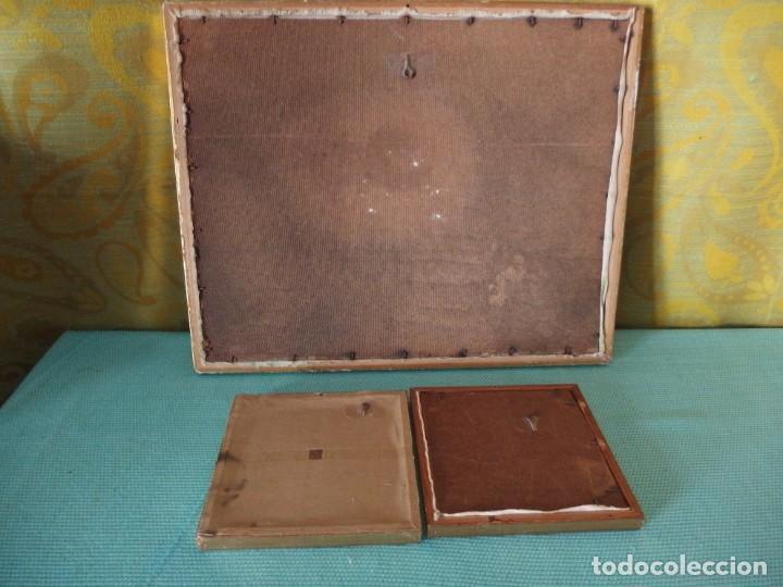 Vintage: 3 CUADROS BORDADOS A MANO - Foto 4 - 252689145