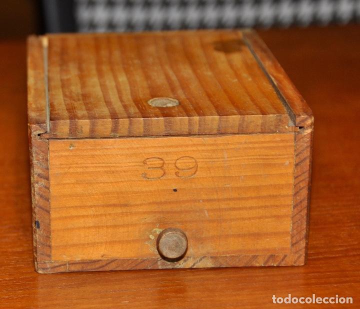 Vintage: Caja madera nº 39 - Foto 2 - 253249105