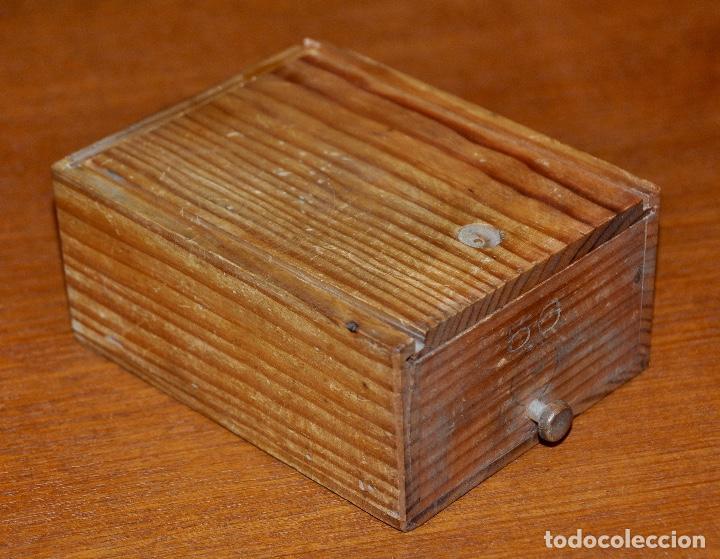 Vintage: Caja en madera número 56 - Foto 3 - 253250100