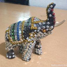 Vintage: FIGURA ELEFANTE MOSAIC ELEPHANT · VINTAGE INDIA · MULTI COLOURED. Lote 253473500