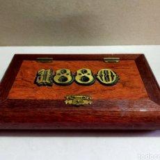 Vintage: CAJA DE PUBLICIDAD DE TURRÓN 1880 EN MADERA. Lote 253499840