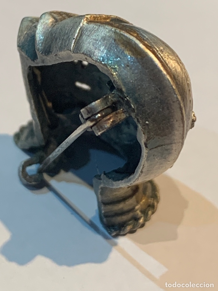 Vintage: Broche Casco Medieval - dos metales - 4 x 2,5 cm. - Foto 7 - 253557420