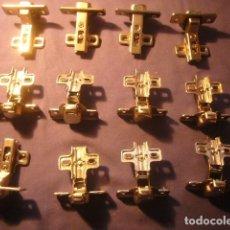 Vintage: LOTE DE 12 GOZNES METALICOS (10X7 CM). Lote 254623615