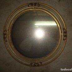 Vintage: ESPEJO TIPO SOL, DORADO, CON LUZ TRASERA. Lote 255516975