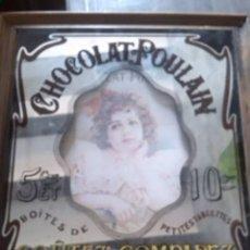 Vintage: CUADRO ESPEJO VINTAGE.CHOCOLAT POULAIN. GOUTEZ COMPARE. MEDIDA: 35 X 30 CM. Lote 255577780