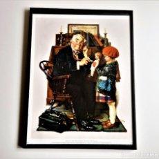 Vintage: LAMINA PINTURA ENMARCADA EN MARCO ALUMINIO CON CRISTAL - 31 X 41.CM. Lote 257397925