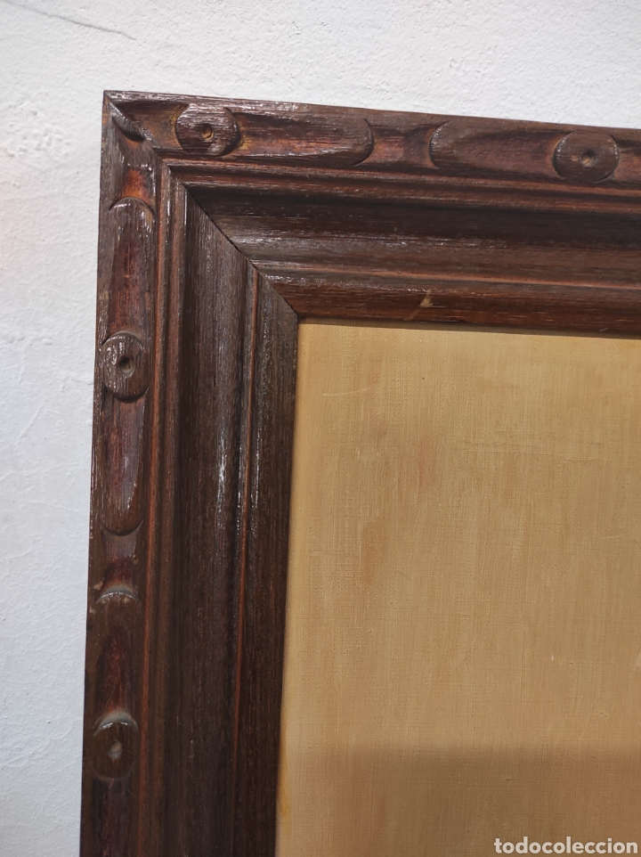 Vintage: Marco de madera la pintura tiene algo de restauración tal cual fotografías medidas 73 x 61,5 - Foto 2 - 288614178