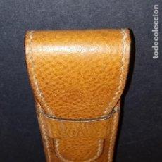 Vintage: ESTUCHE FUNDA DE PIEL - 17 X 4 X 3 CMS. Lote 261339635