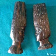 Vintage: FIGURAS AFRICANAS EN MADERA, VINTAGE.. Lote 261881735