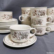 Vintage: JUEGO DE TE O CAFÉ CON LECHE MARCA PINEWOOD MADE IN ENGLAND. Lote 261990355