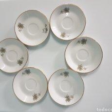 Vintage: 6 PLATITOS PORCELANA PONTESA MADE SPAIN. Lote 262280755