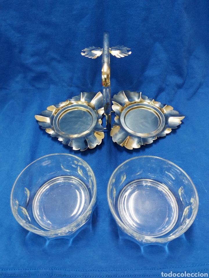 Vintage: Salsera con dos bols de cristal - Foto 3 - 262653250