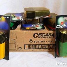 Vintage: CAJA DE LINTERNAS CEGASA AÑOS 90 MADE IN SPAIN ENERGIZER TXIMIST WONDER TUDOR JUPITER LINX EVEREADY. Lote 264693359