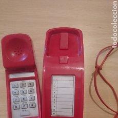Vintage: VIEJO TELÉFONO DE COLGAR, DE CASA, EN COLOR ROJO, VINTAGE. Lote 265407419