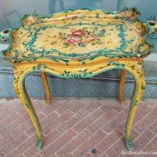 Vintage: MESITA DE TÉ, ESTILO LUIS XV . VINTAGE.. Lote 266784739