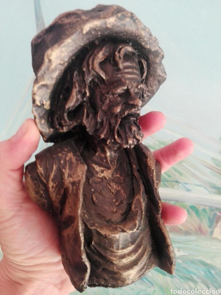 Vintage: Busto de resina, figura decoración rostro hombre con sombrero - Foto 6 - 267863264