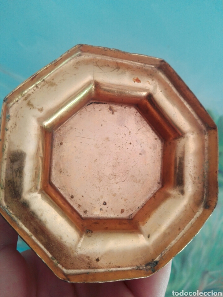 Vintage: Lapicero africano tallado a mano zinc o similar con patina dorada - Foto 5 - 267863829