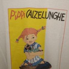 Vintage: CAMISETA. DISEÑO EXCLUSIVO PIPPI CALZASLARGAS. CALZELUNGHE. NUEVA. TALLA A ELEGIR. Lote 268169519