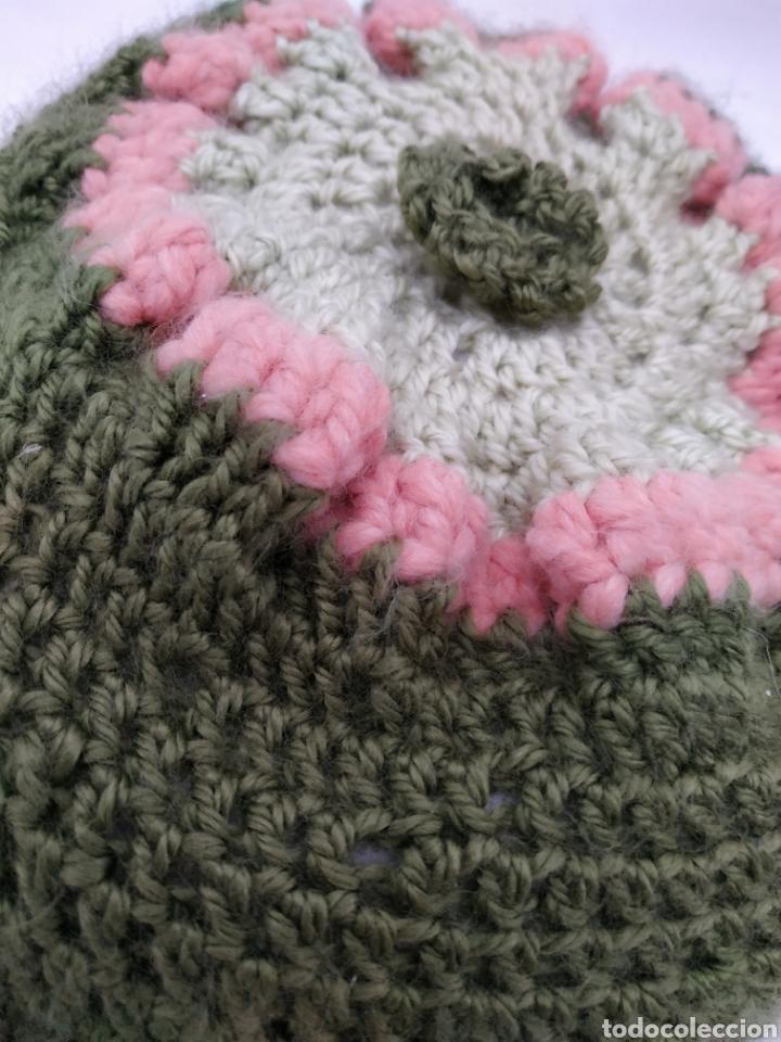 Vintage: cojín redondo de lana, punto, vintage - Foto 2 - 268178659
