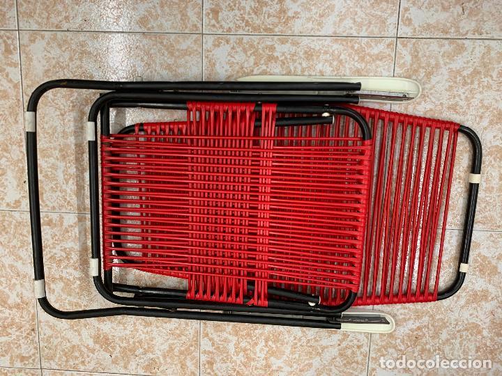 Vintage: Silla tumbona scoubidou regulable. Excelente estado. Absolutamente vintage - Foto 3 - 268717044