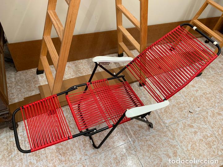 Vintage: Silla tumbona scoubidou regulable. Excelente estado. Absolutamente vintage - Foto 5 - 268717044