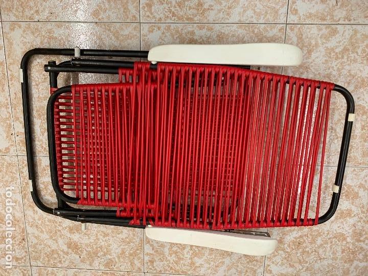 Vintage: Silla tumbona scoubidou regulable. Excelente estado. Absolutamente vintage - Foto 8 - 268717044