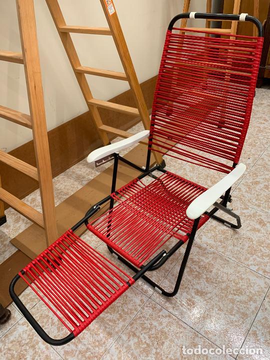 Vintage: Silla tumbona scoubidou regulable. Excelente estado. Absolutamente vintage - Foto 9 - 268717044