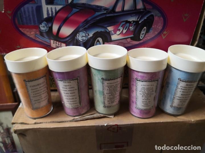 Vintage: Colección 5 vasos termo INDIOS DE TRIBUS Y DESCRIPCIÓN polyplas made in Venezuela - Foto 2 - 269189408