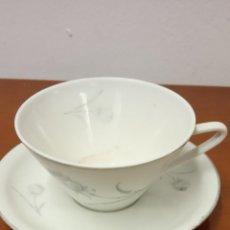 Vintage: PRÁCTICO JUEGO DE TE/ CAFE. EN CERÁMICA. MEDIDAS TAZA DIÁM. 9 CM ALTO 5 CM PLATO DIÁM. 13 CM. Lote 269289848