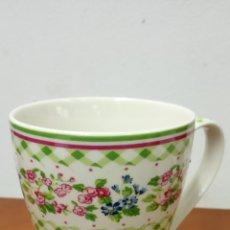 Vintage: PRÁCTICA TAZA FLORES. EN CERÁMICA. MEDIDAS TAZA DIÁMETRO 8.5 CM ALTO 11 CM. Lote 269294943