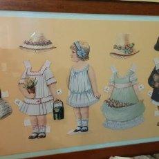 Vintage: CUADRO CON RECORTABLES BELGAS ENMARCADO. Lote 269472493