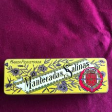 Vintage: ANTIGUA CAJA DE MANTECADAS SALINAS. 21X7X4 CM. Lote 270556003