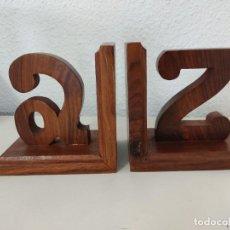 Vintage: SUJETA LIBROS DE MADERA A Z. Lote 272423543
