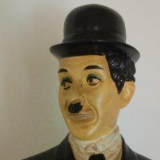 Vintage: FIGURA DE ESCAYOLA O ESTUCO CHARLES CHAPLIN CHARLOT. Lote 273992338