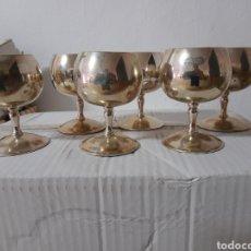 Vintage: 6 ANTIGUAS COPAS DE ALPACA ,EPB ,TOLEDO. Lote 275019003