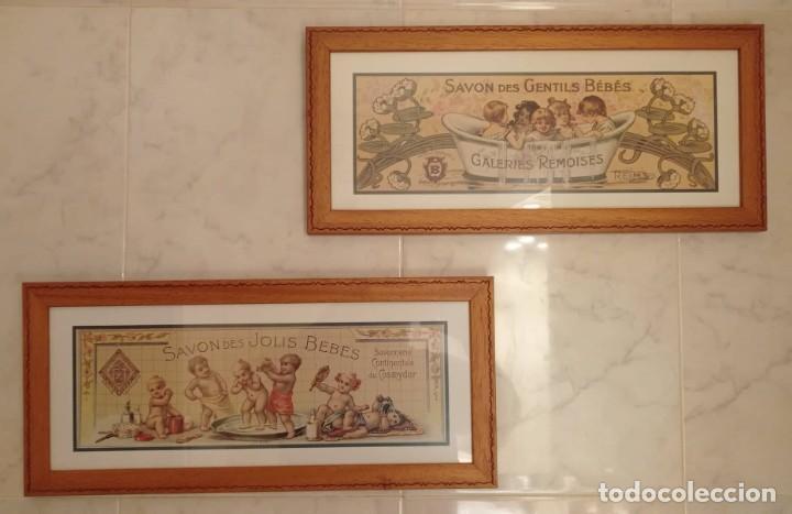 PAREJA CUADROS DECORATIVOS WC (Vintage - Decoración - Varios)