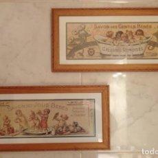 Vintage: PAREJA CUADROS DECORATIVOS WC. Lote 275959618