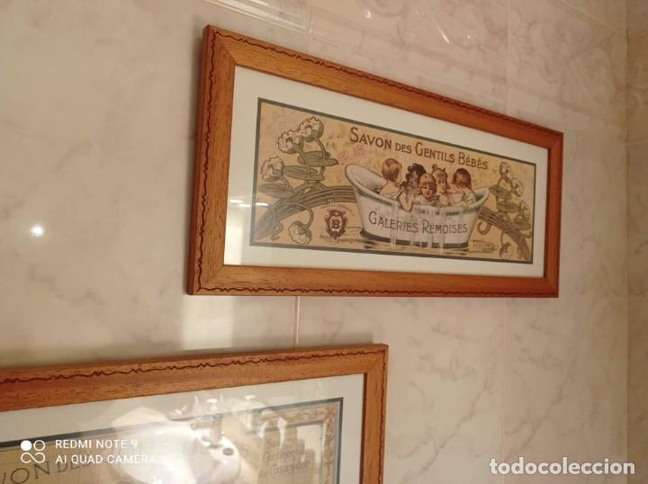 Vintage: PAREJA CUADROS DECORATIVOS WC - Foto 2 - 275959618