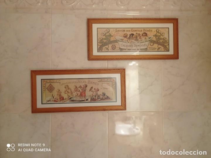 Vintage: PAREJA CUADROS DECORATIVOS WC - Foto 5 - 275959618