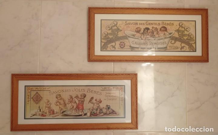 Vintage: PAREJA CUADROS DECORATIVOS WC - Foto 8 - 275959618