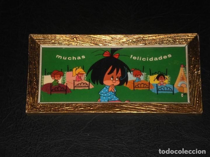 CUADRO - FAMILIA TELERIN, VAMOS A LA CAMA - MUCHAS FELICIDADES - AÑOS 70. (Vintage - Varios)