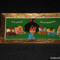 Vintage: CUADRO - FAMILIA TELERIN, VAMOS A LA CAMA - MUCHAS FELICIDADES - AÑOS 70.. Lote 276643993