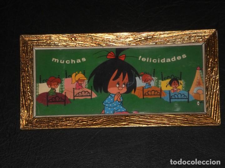 Vintage: CUADRO - FAMILIA TELERIN, VAMOS A LA CAMA - MUCHAS FELICIDADES - AÑOS 70. - Foto 2 - 276643993