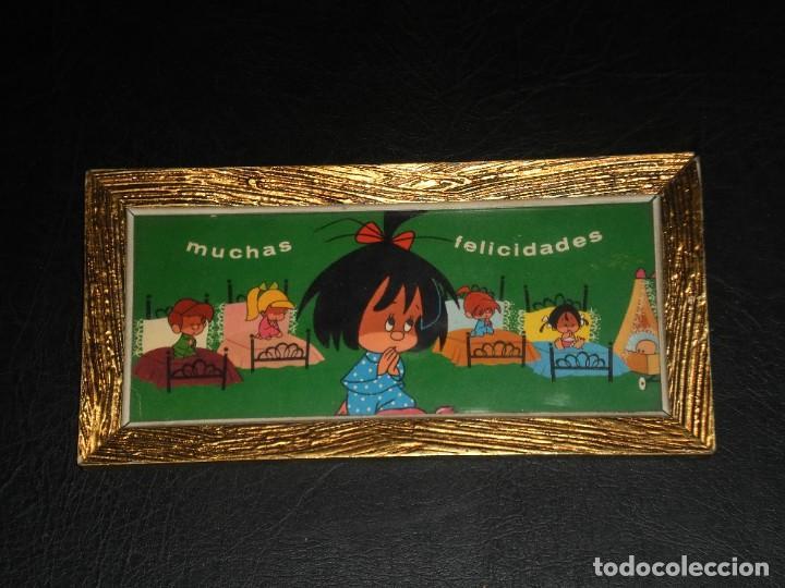 Vintage: CUADRO - FAMILIA TELERIN, VAMOS A LA CAMA - MUCHAS FELICIDADES - AÑOS 70. - Foto 4 - 276643993