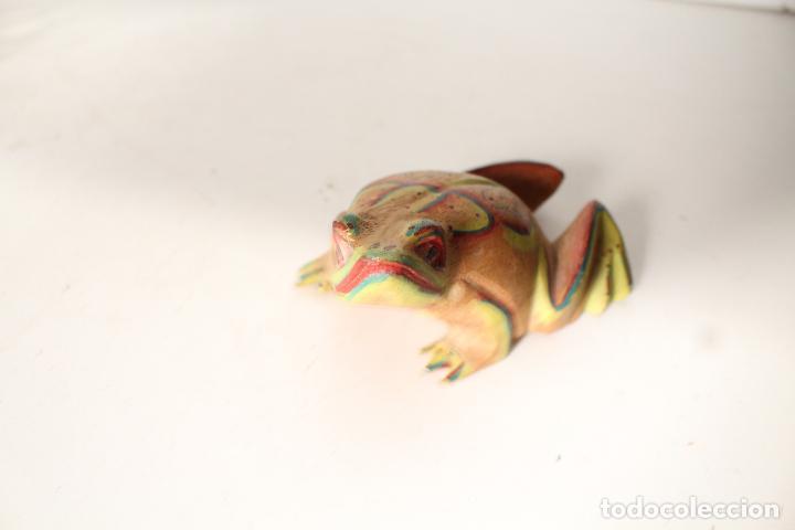 Vintage: rana de madera - Foto 2 - 276770563