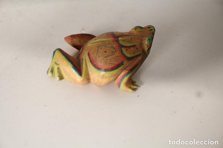 Vintage: rana de madera - Foto 3 - 276770563
