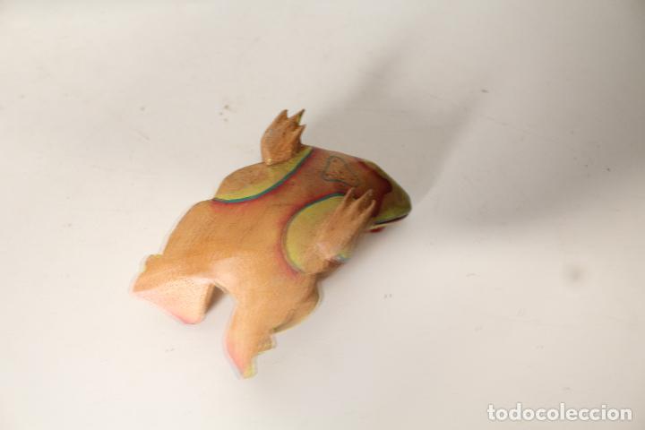 Vintage: rana de madera - Foto 4 - 276770563